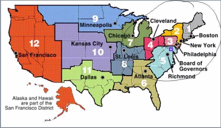Regionální banky Fedu